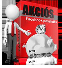 Akciós Facebook posztolási csomagok