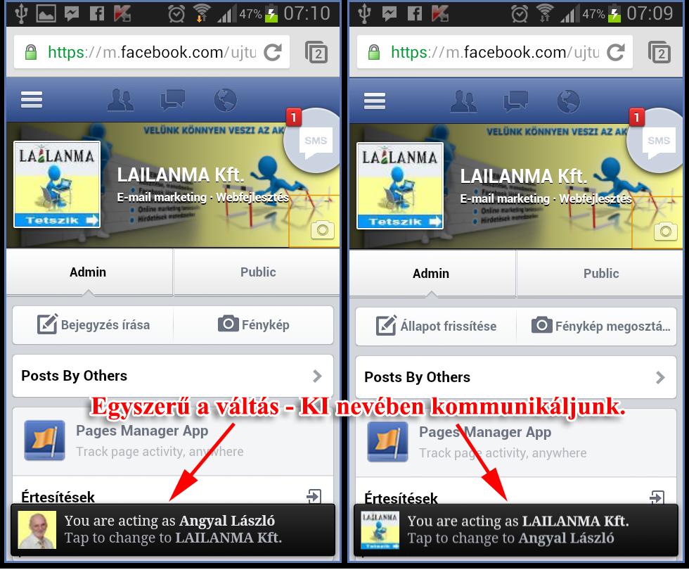 Facebook kliens- ki nevében kommunikáljunk