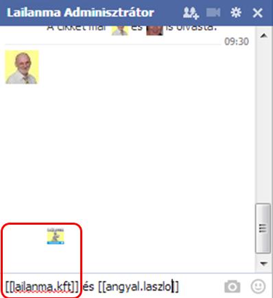 chatben profilkép link2