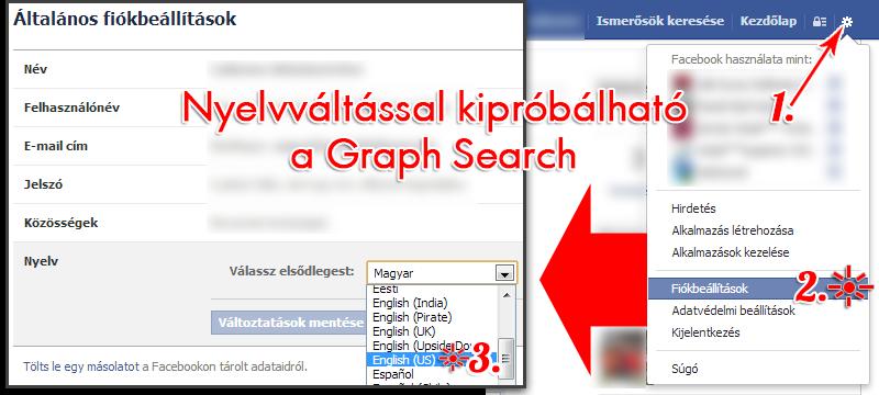 nyelvváltással graph search