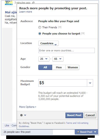 c0bd307bc8 Tipp: Facebook kiemelt poszt hirdetés egyszerűen - Lailanma Marketing