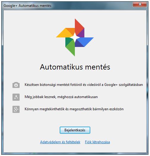 Google+ Automatikus mentés