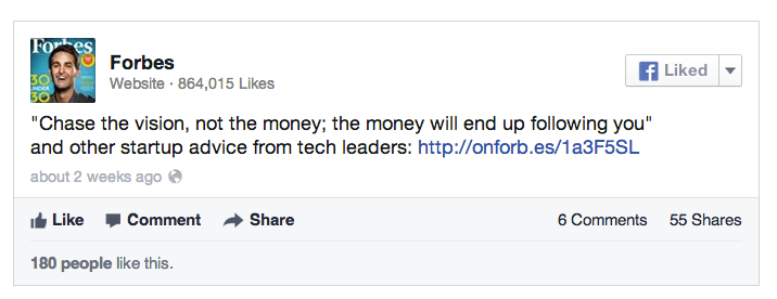 how to change a link in a facebook post