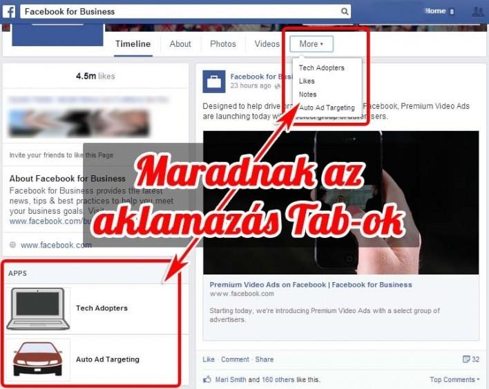 Mégis TAB képekkel jön a Facebook új oldal design