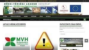Bükk-térségi LEADER Egyesület weboldala