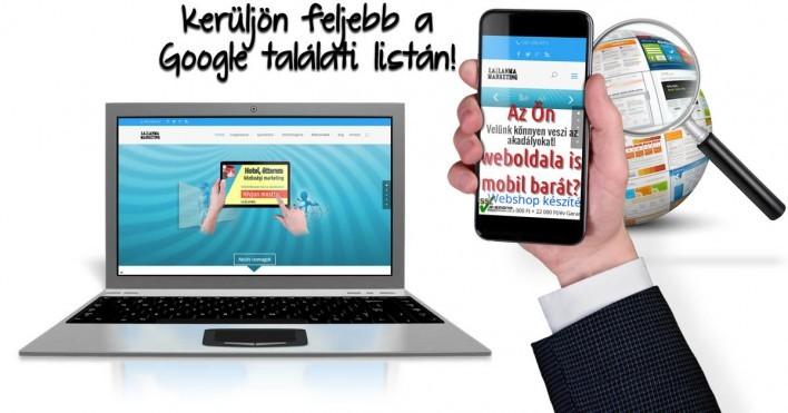 Mobil barát weboldalak előnyben a Googlenél