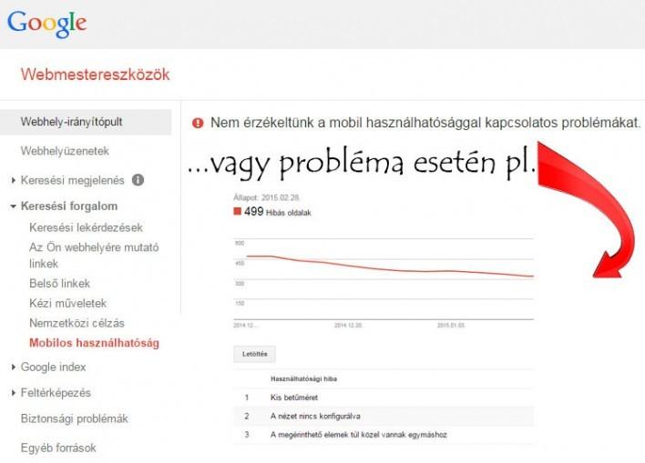 Mobil weboldal előnyben a Googlenél - webmestereszközök