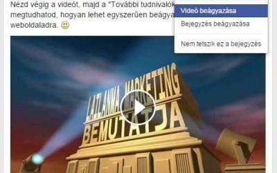 Facebook videó beágyazása