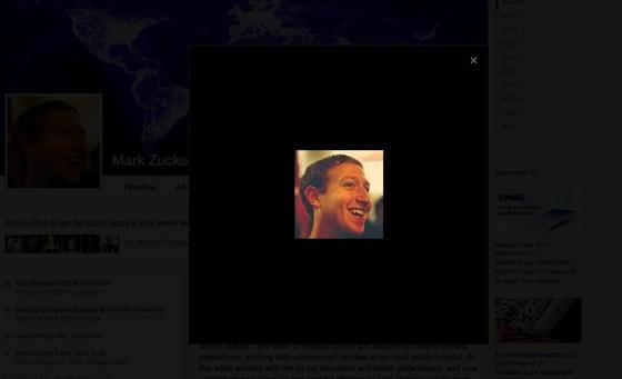 Zukerberg eleve kis képet töltött fel