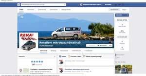 RenaRent mikrobusz kölcsönző Facebook oldala