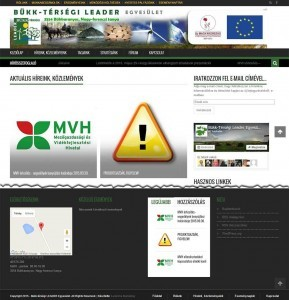 Bükk-térségi LEADER Egyesület új weboldala
