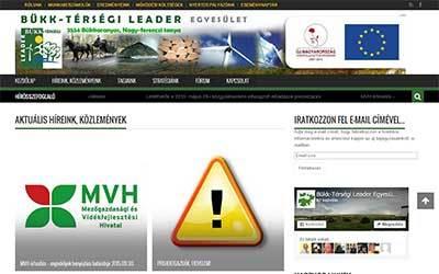 Elkészült a Bükk-térségi LEADER Egyesület weboldala