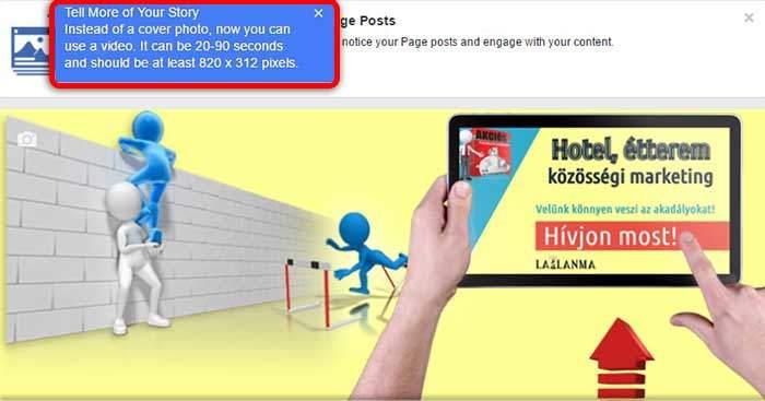 Facebook videó borító teszt